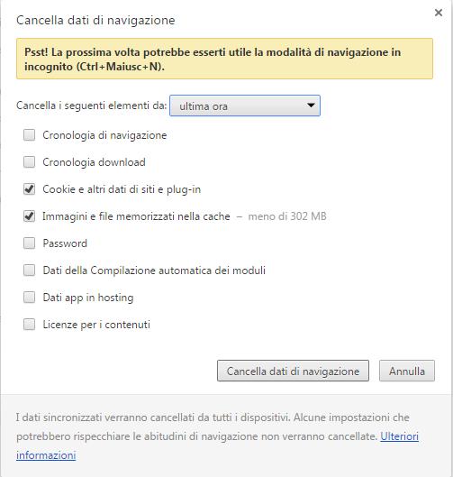 Come velocizzare chrome il browser di google perch - Nuova finestra di navigazione in incognito ...