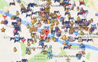 Mappa Pokemon Go - Firenze ZOOM
