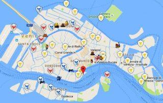 Mappa Pokemon Go Venezia 30 Luglio ore 17.15
